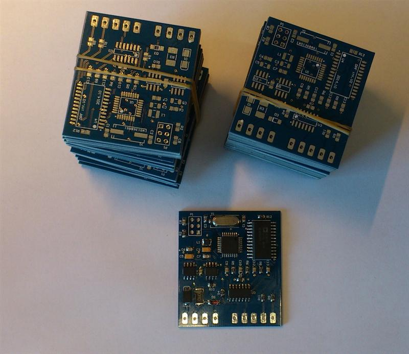 2 Layers PCB Board, 1 2 mm, Blue Mask, White silkscreen