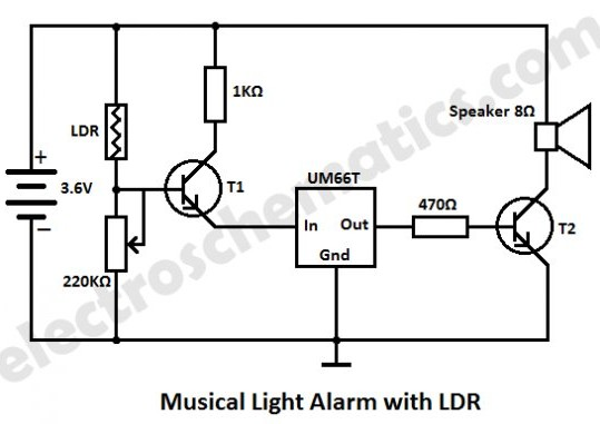 light alarm circuit with ldr - engineering technical
