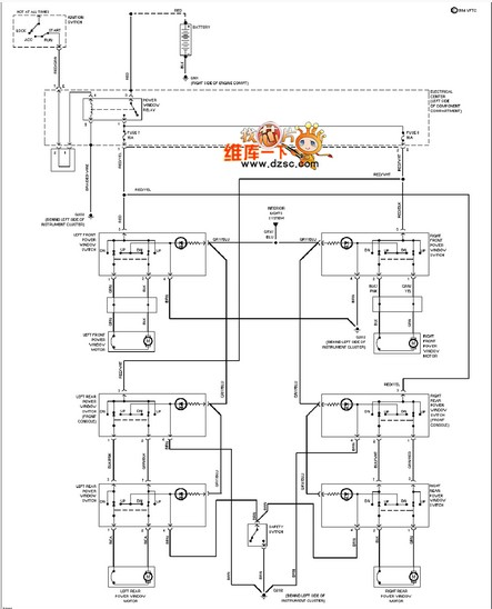 mercedes-benz 190e electric windows circuit diagram - engineering technical