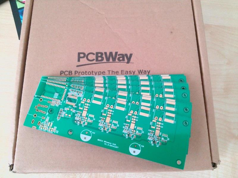 2 Layers PCB Board FR-4 1 6mm Green Mask, ENIG finish