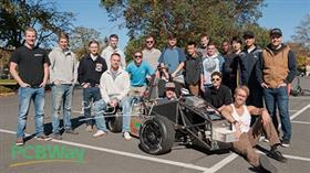 collaboratively design and build a formula-style electric or plug-in hybrid racecar