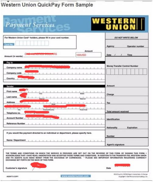Payment Process - How can I pay with Western Union