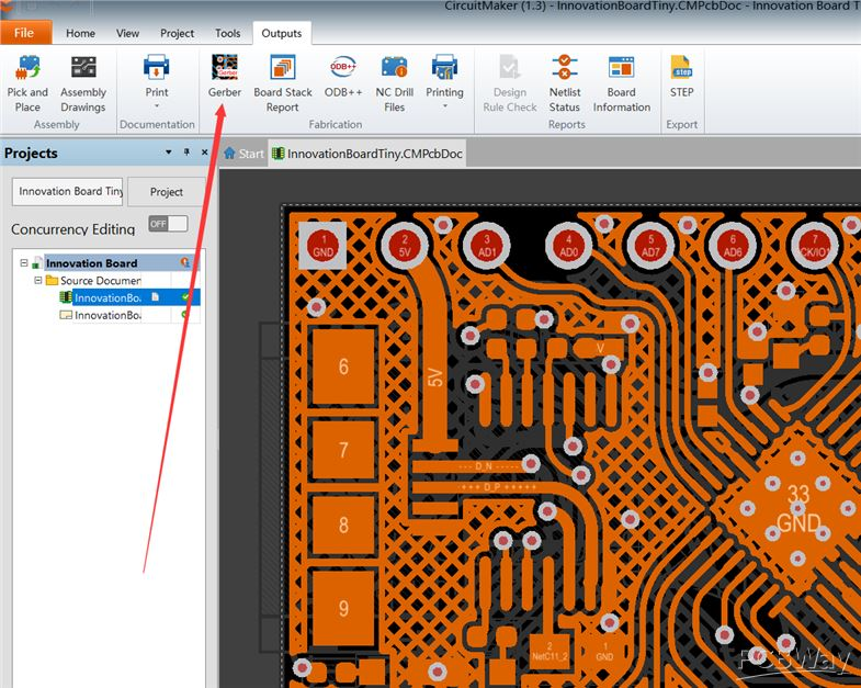 How To Generate Gerber Files From Circuitmaker Pcb Layout Software Pcbway