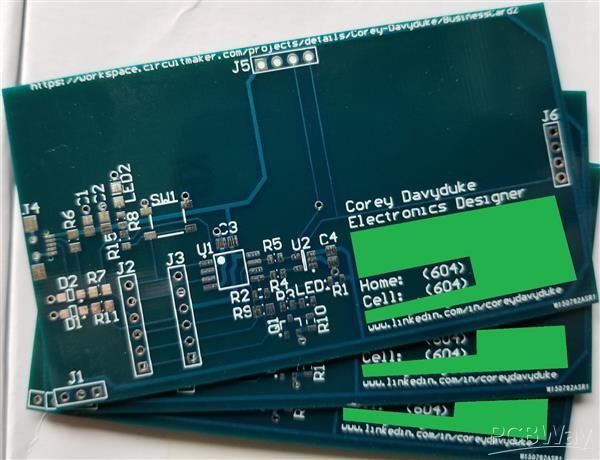 Pcb business card second batch share pcbway pcb business card second batch colourmoves