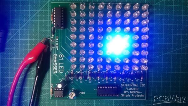 81 LED Chaser using 4017 IC & 555 IC - Share - PCBWay