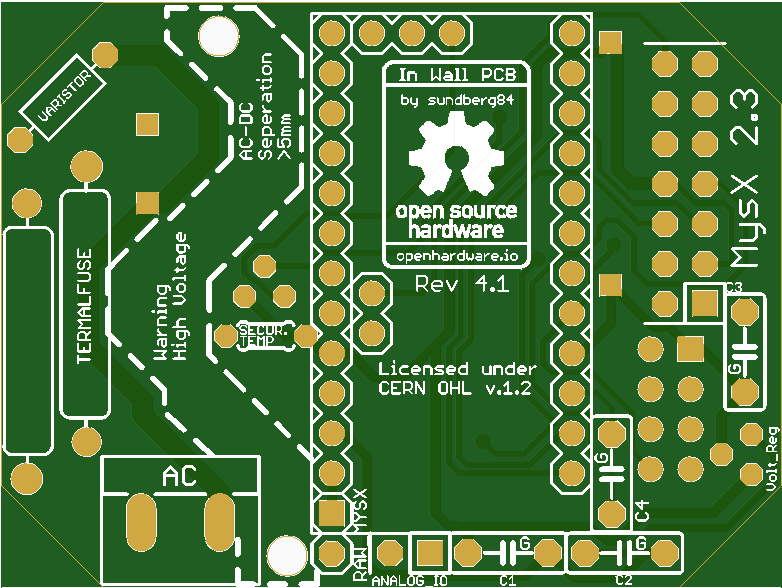 In Wall AC/DC Pcb for MySensors v1- Share Project - PCBWay
