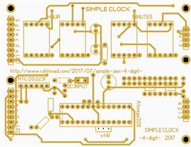 W09439ASX44_Simple 4 digit Clock