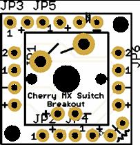 SparkFun Cherry MX Switch Breakout