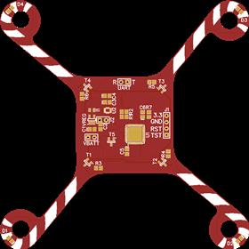 Candy Cane Themed Christmas QuadCopter