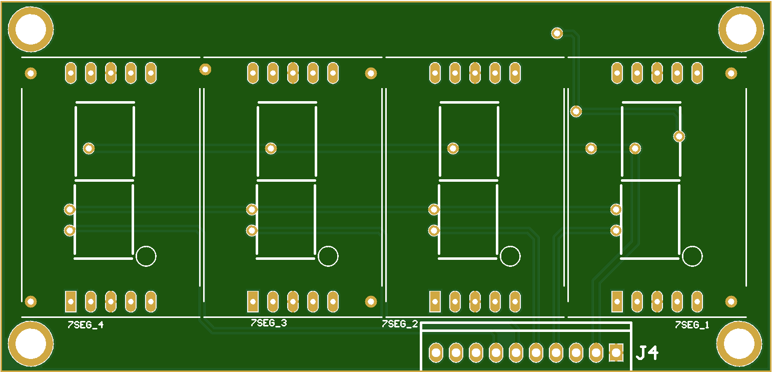 2 Line, Quad, 1 inch, 7segment Displays