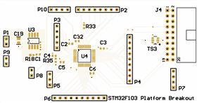 STM32f103c8t6 breakout board with STLINK debugging header