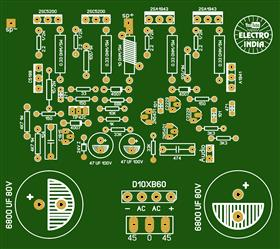 200 Watts Mono Audio Amplifier DIY