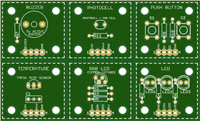 SENSOR1 THROUGH-HOLE PCB
