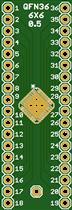 QFN32 and QFN36 adapter board