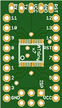 Development board for ATTiny167 MCU - Arduino