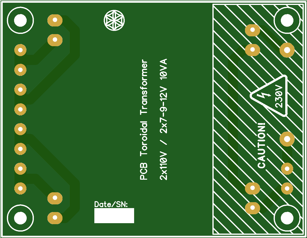 Toroidal Transformer PCB (10VA)