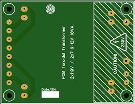 Toroidal Transformer PCB