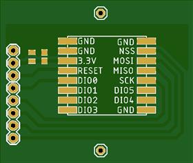 LoRa RA-02 Breakout Board