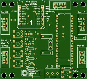 Atmega32 Controllerboard