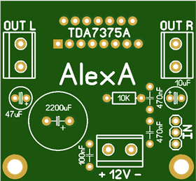 Amplifier on TDA7375A