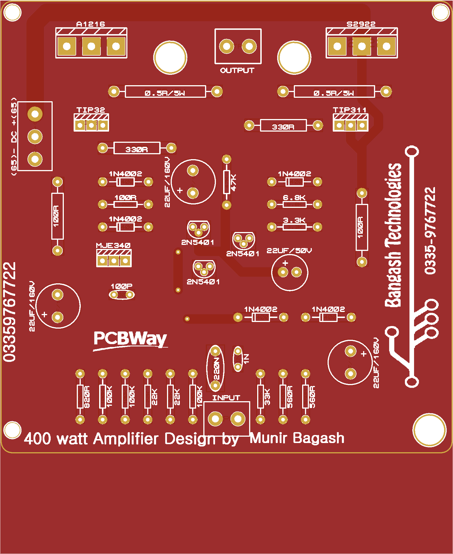 Tda7294 stereo new 200 watt amplifier - Share Project - PCBWay