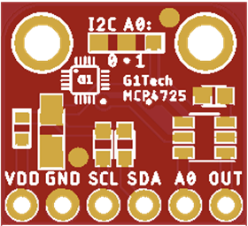 G1Tech-MCP4725-PCB (Rev.A ONLY for TESTING!)