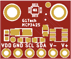 G1Tech-MCP3425-PCB (Rev.A ONLY for TEST!)