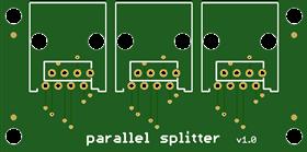 3 way parallel splitter for RJ45 UTP 8p8c