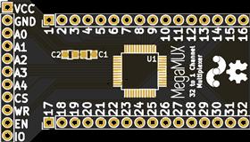 MegaMUX - 32 Channel Multiplexer Breakout