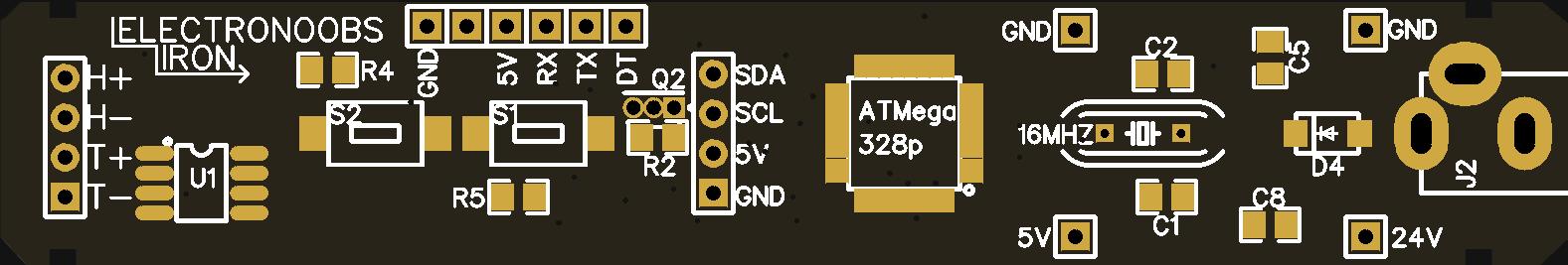 Arduino based portable soldering iron board