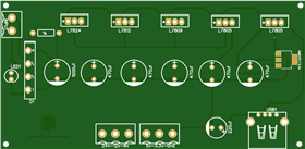 Diy bench power supply, adjuatable voltage output with LM78xx regulators