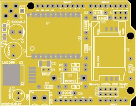 Neoway M590e GSM  shield v0.3 DIP_GSM M590 PCB_A1
