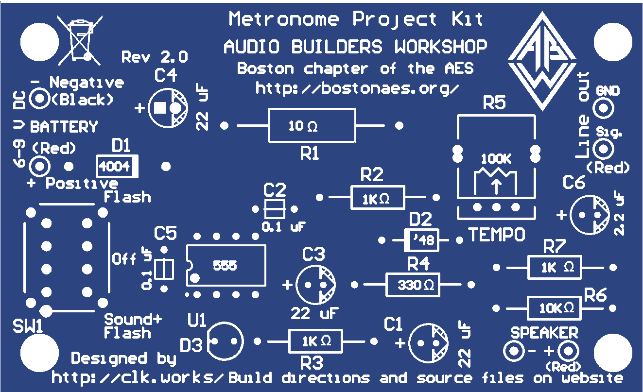 Metronome Project Board By Audio Builders Workshop Share Circuit Descriptionthis Is Intended For People Who Have Never Stuffed And Soldered A Pcb Beforeit W