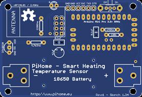 PiHome Temperature Sensors_PCB