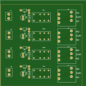 dcc relay interface board