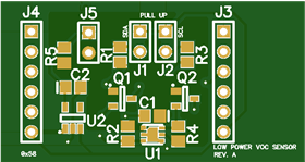 Low Power VOC Sensor Board