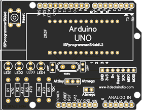 ArduinoISP Shield For Arduino UNO Easy Way To Burn And Program Your Arduino Chip /Attiny Chip