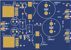 LM72576Switcher Power supply with +12 Volts @ 3Amps