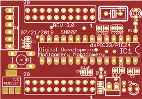 PIC24/dsPIC33 breakout board Rev. 3.0