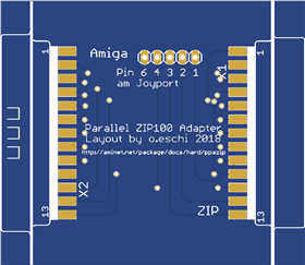 PPAZIP - Adapter for for the parallel Iomega ZIP drive on Amiga 500