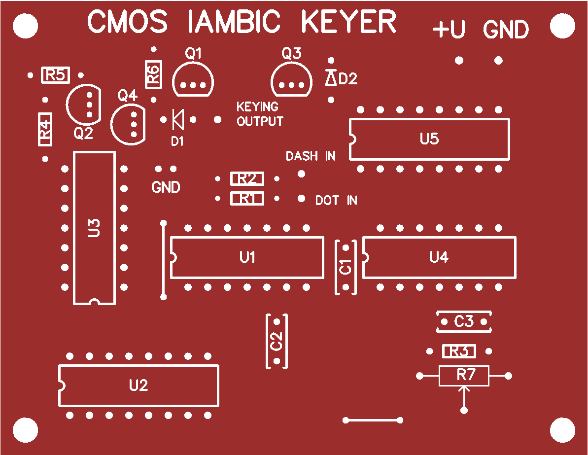 Cmos Iambic Keyer Share Project Pcbway Electronic Circuit This Is A Printed Board For The Legendary Telegraph Key Design Of Ted Theroux N9bqread More