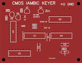 CMOS iambic keyer