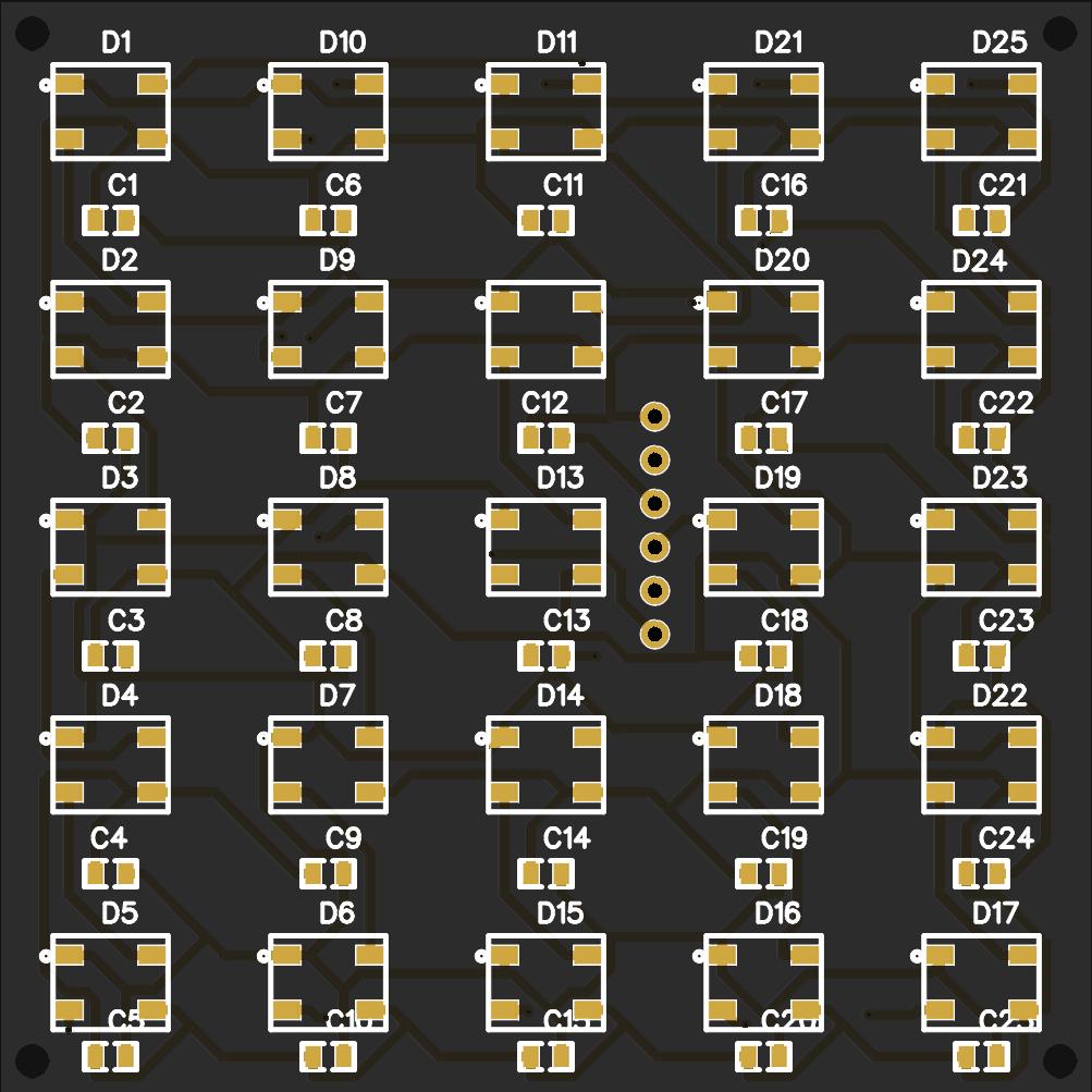WS2812B 5x5 modular matrix