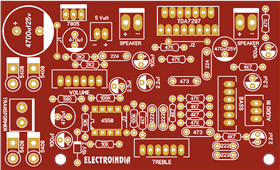 TDA7297 IC with Bass Treble Controller Stereo Audio Amplifier Board DIY | Hindi | ELECTRO INDIA