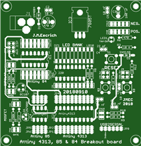 Programador de Attinies, Attiny 4313 y 85,Atmega84_
