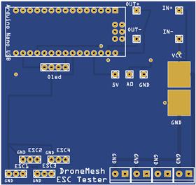 DroneMesh ESC/Motor Tester V1 (Arduino Nano)