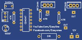 inverter 12V to 220V-240V using CD4047 50hz