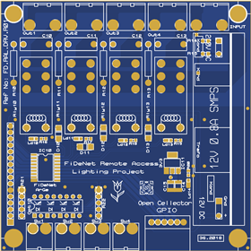 Relay and button board