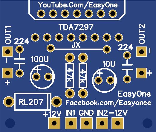 TDA7297 Audio Amplifier 30Watt - Share Project - PCBWay