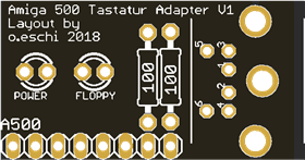 Amiga Tastatur Adapter V1